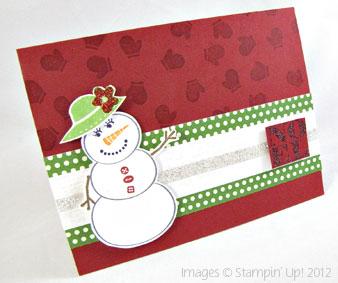 Stampin' Up! Stylin' Snowfolk Christmas Card