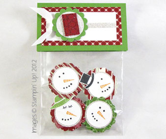 Stampin' Up!'s Stylin' Snowfolk Peppermint Patty treat bag