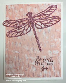 Dragonfly Thinlit with Sweet Sugarplum Glimmer Paper