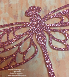 Close-up of Sweet Sugarplum Glimmer Paper Dragonfly