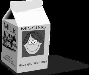 Missing Person -Milk Carton