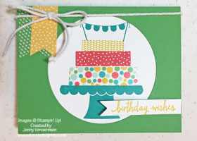 Stampin' Up! Build A Birthday card with Washi