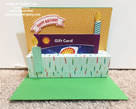 Stampin' Up! Build A Birthday card with Washi - opened