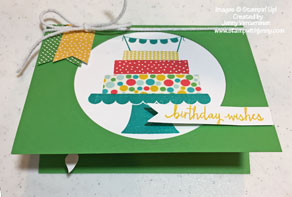 Stampin' Up! Build A Birthday Pop-Up Gift Card Holder