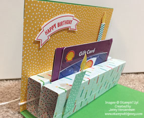 Build A Birthday Pop-Up card - side view