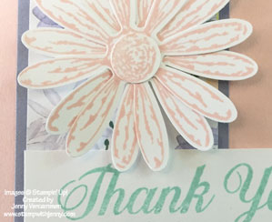 Pink Stampin' Up! Daisy Delight Thank You Card