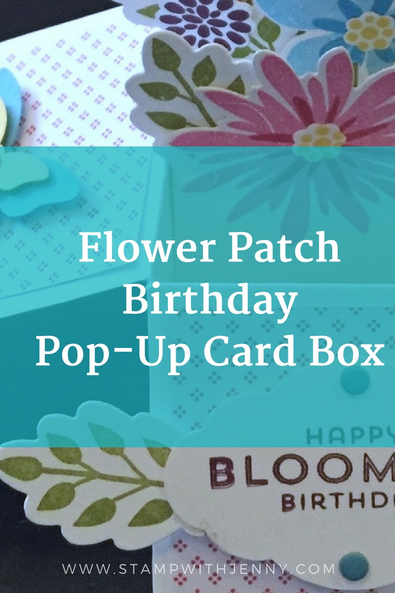 Flower Patch Birthday Pop-Up Box Card