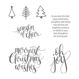 Watercolor Christmas Stamp Set