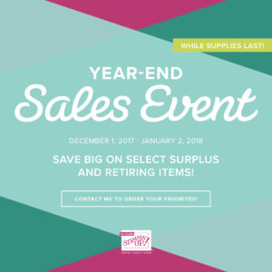 Stamoin' Up! 2017 Year-End Sales Event