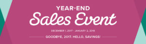 Stampin' Up! 2017 Year-End Sales Event